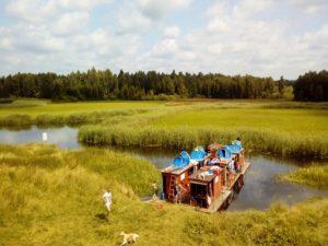 Spływy tratwami biebrzańskimi rzeką Biebrzą