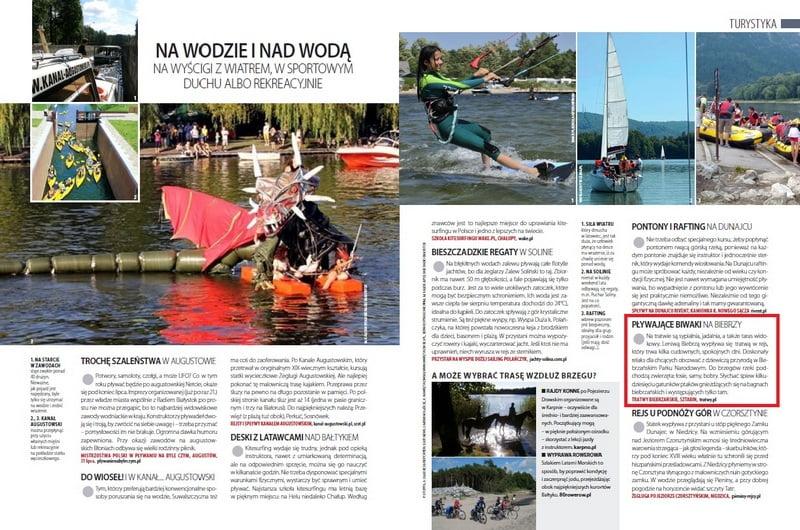 claudia czasopismo pływające biwaki tratwa biebrza24