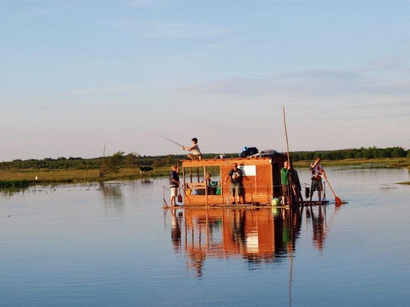 Spływ chatą na tratwie (4 dni)