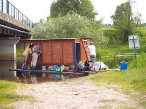Spływ tratwą Kamienna - Jagłowo