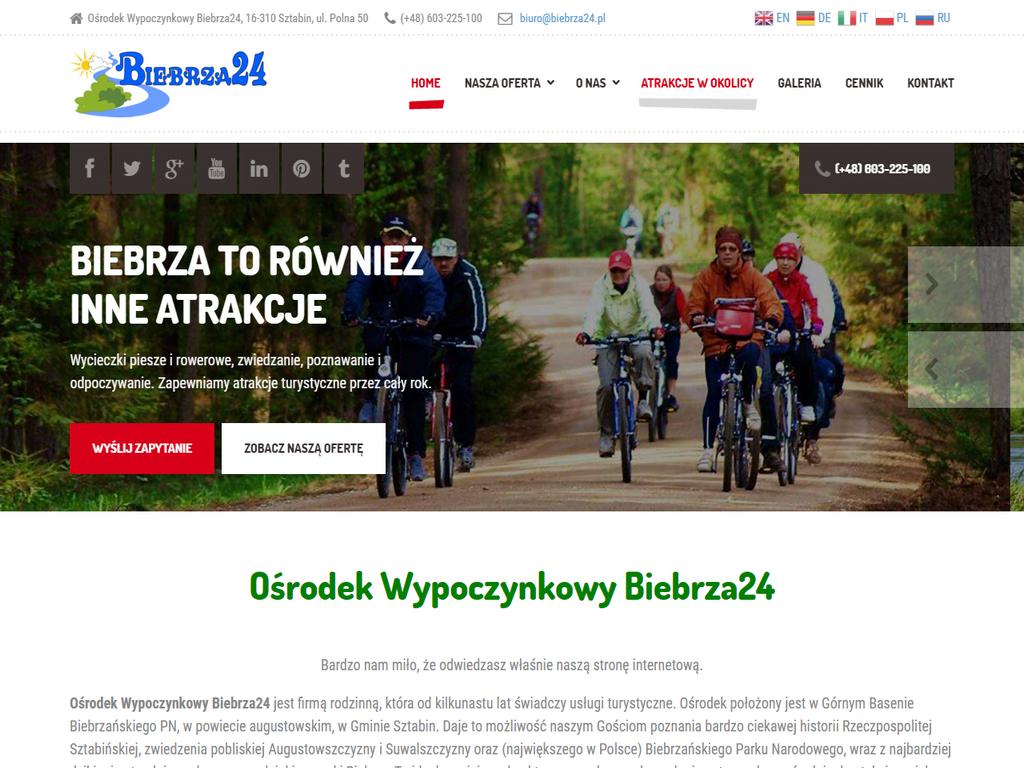 Nowa strona internetowa Biebrza24