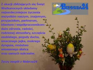 Życzenia wielkanocne od Biebrza24 (firmowe)