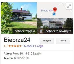 opinie google maps Biebrza24