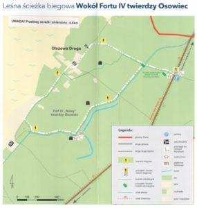 Mapa - Leśna ścieżka wokół Fortu IV Twierdza Osowiec