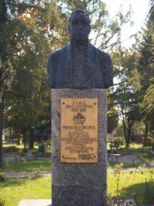 Hrabia Karol Brzostowski - Sztabin - pomnik, popiersie
