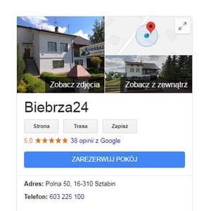 Opinie Biebrza24 Google Maps