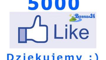 5000 lajków na facebooku - Przekroczyliśmy magiczną liczbę
