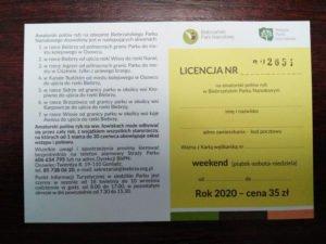 Licencja weekendowa (piątek - sobota - niedziela)